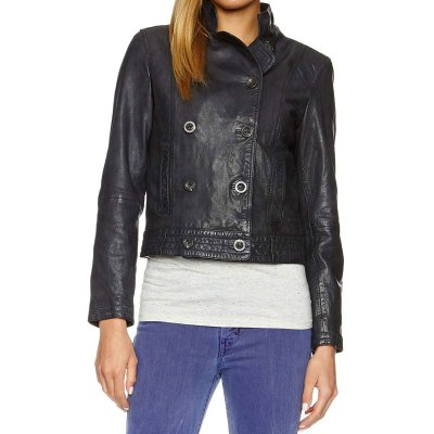 Levis Cropped Leather Jacket